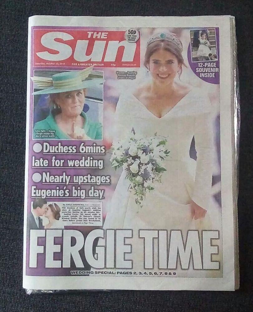 October 13, 2018 Sun newspaper, Princess wedding