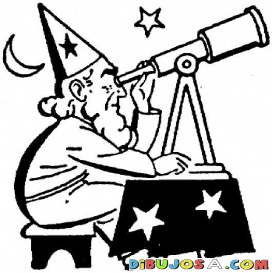 Astronomo Viendo Las Estrellas Con Telescopio Free Coloring Pages Coloring Pages Personal Journey