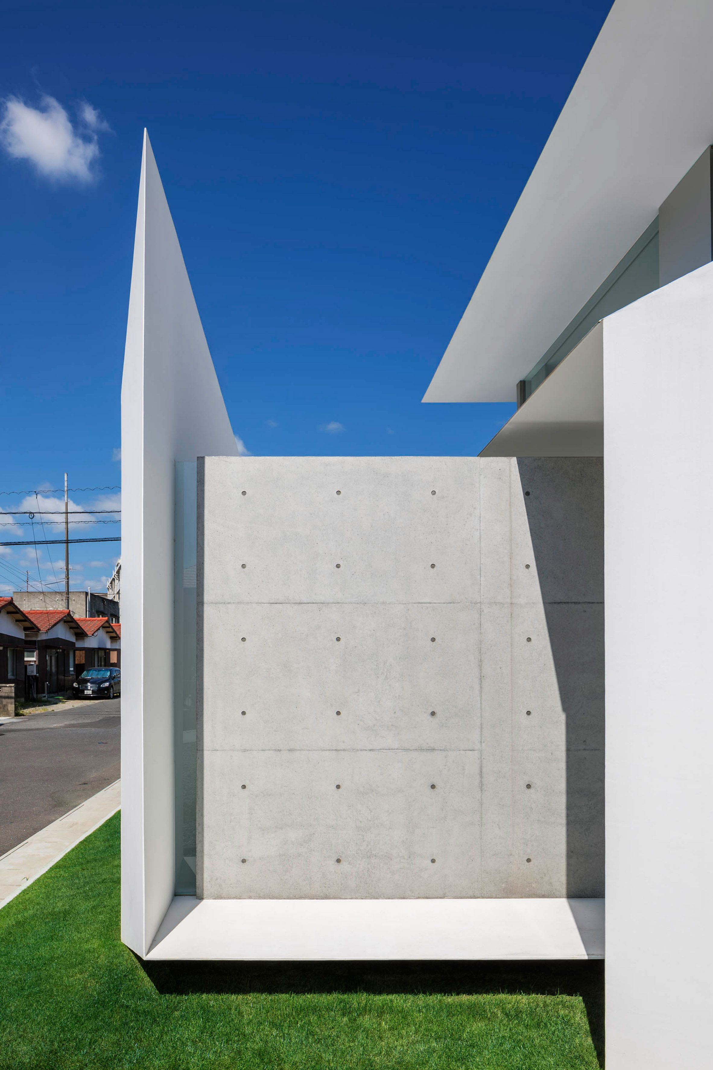 Impressive House With Concrete Walls In Japan Concrete Architecture Facade House Architect