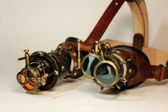 Steampunk Goggles Seer Etsy Steampunk Goggles In 2019