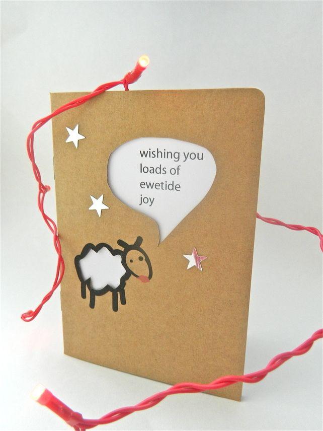 Quirky random cute Funny Christmas Card £1.80 | Papercut greetings ...