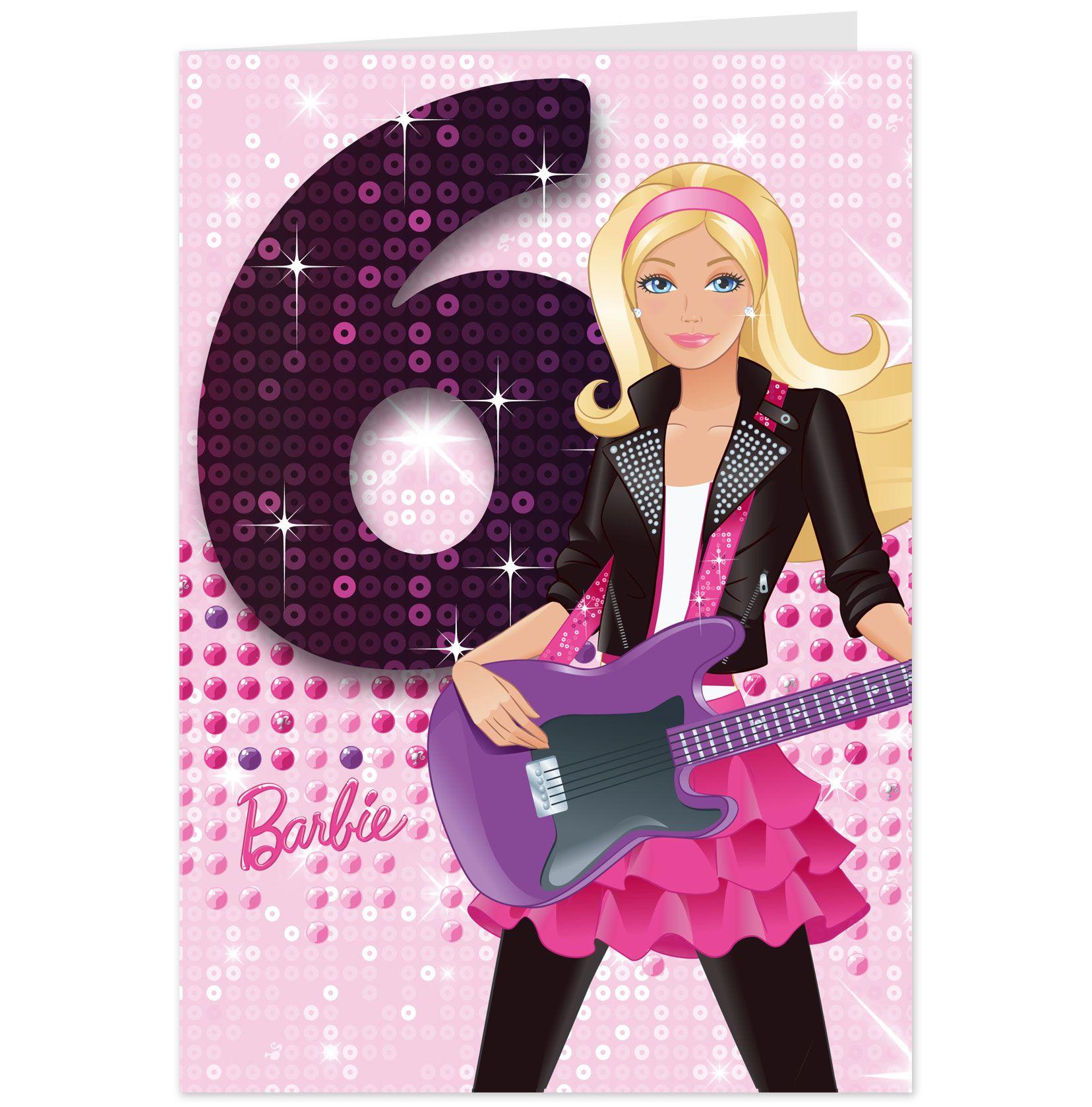 Barbie 6th birthday card personalised hallmark aus parties barbie 6th birthday card personalised hallmark aus bookmarktalkfo Images
