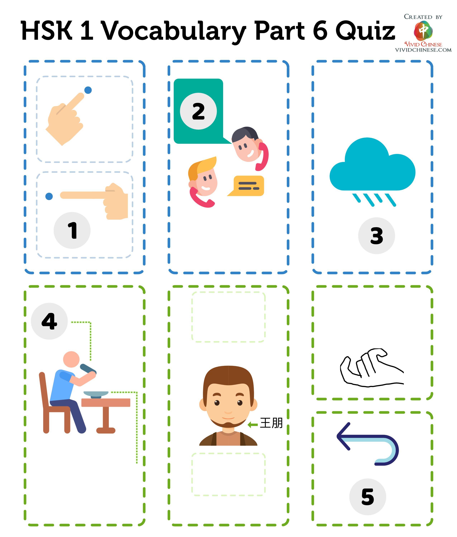 Hsk 1 Vocabulary Part 6 Quiz