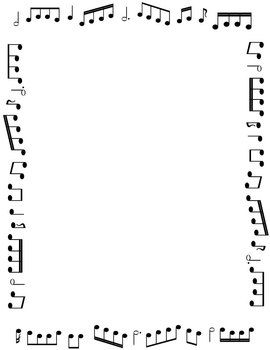 Borders And Frames Music Themed Black And White Borders And Frames Page Borders Free Music Printables