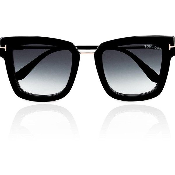 d1aa9b31dd Tom Ford Lara Squared Frame Sunglasses (1.400 BRL) ❤ liked on Polyvore  featuring accessories