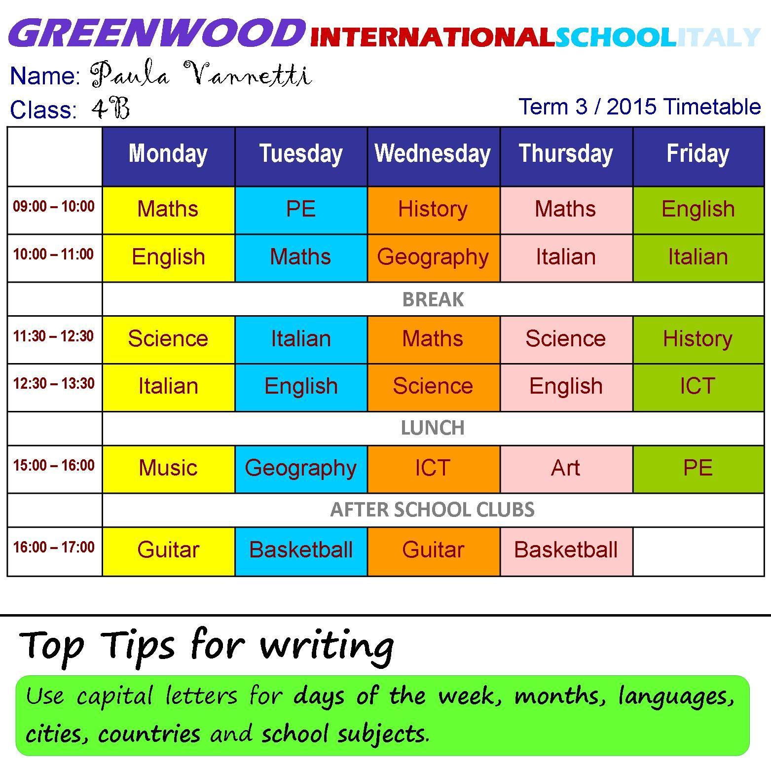 At School School Timetable School British Schools [ 1563 x 1563 Pixel ]