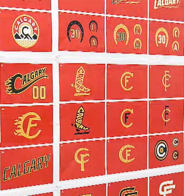 Calgary Flames Third Jersey Concept Logos Calgary Flames Calgary Sports Logo