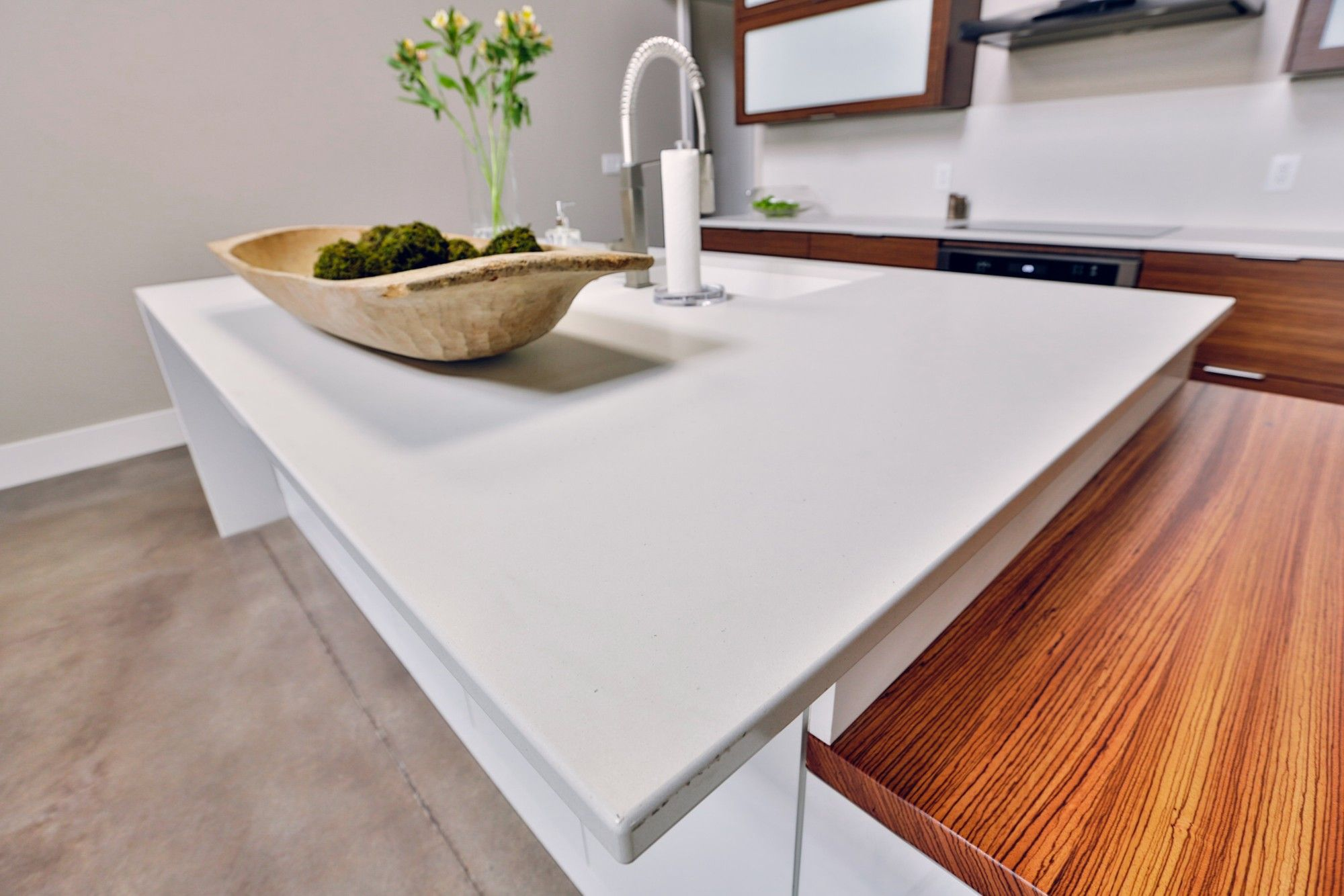 Kitchen Dura Supreme Metro Frameless Hazelnut Perimeter And Ava
