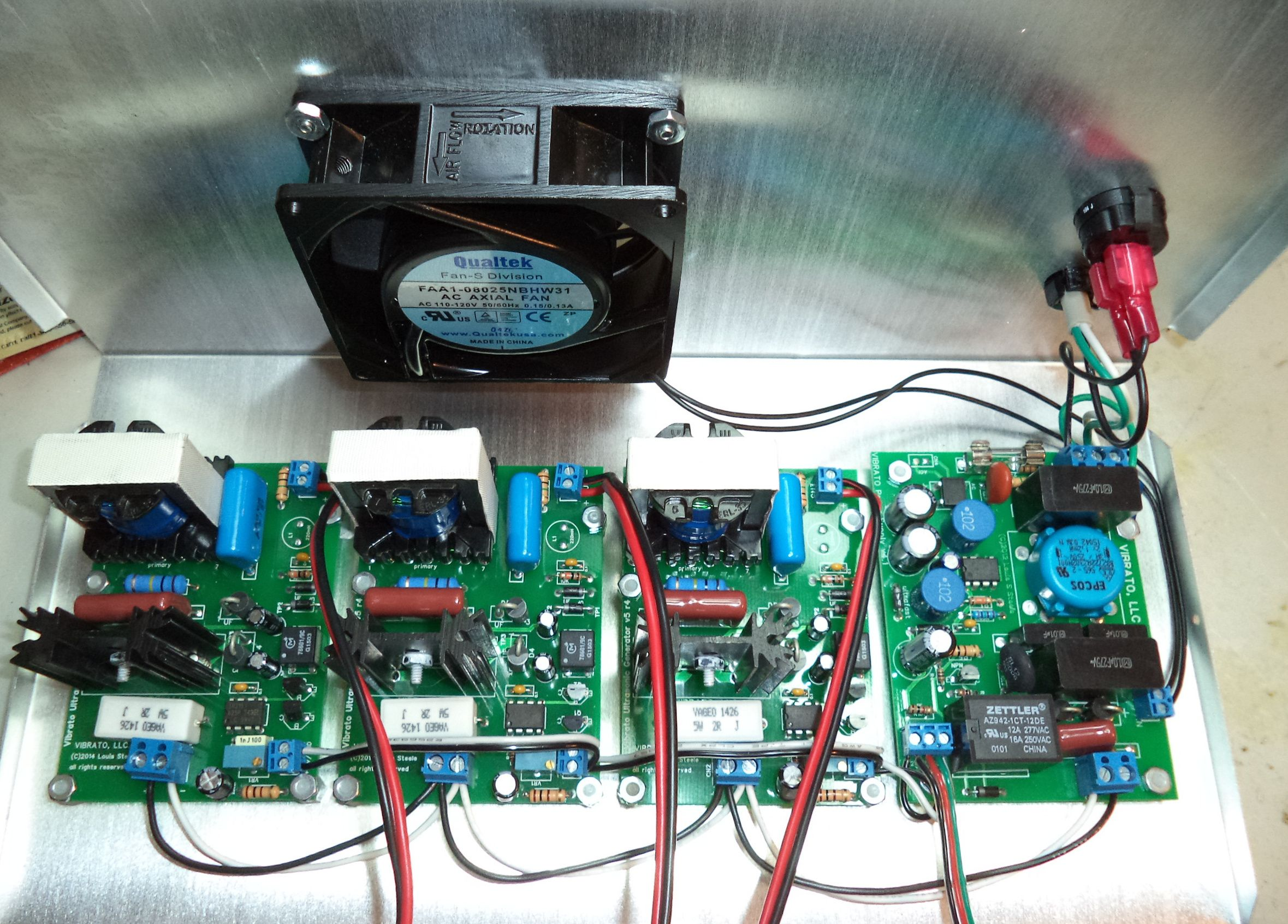 Installation And Wiring Of Vibrato Circuit Boards In The 80khz Board Module Pcb On Off Dishwasher Printed Ultrasonic Cleaner