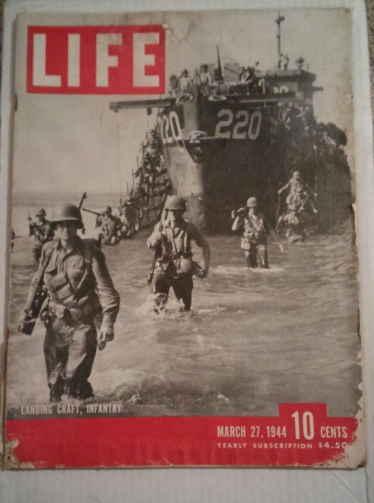 Life Magazine-Landing Craft, Infantry March 27, 1944 Back Issue