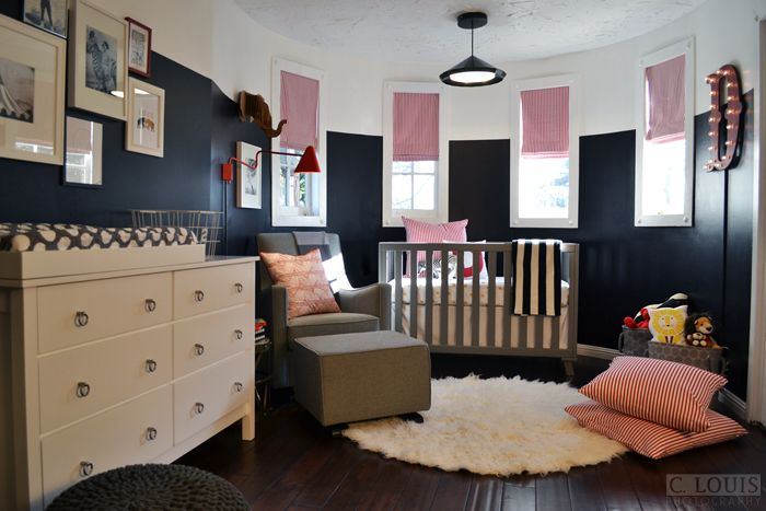 amazing mix of bold colors in this nursery