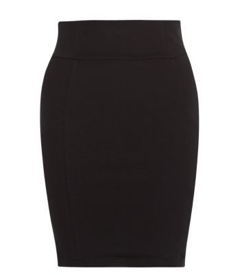 Teens Black Jersey Tube Skirt