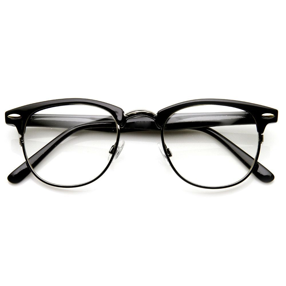 8df1f200263 Vintage Optical RX Clear Lens Clubmaster Wayfarer Glasses 2946 49mm from  zeroUV