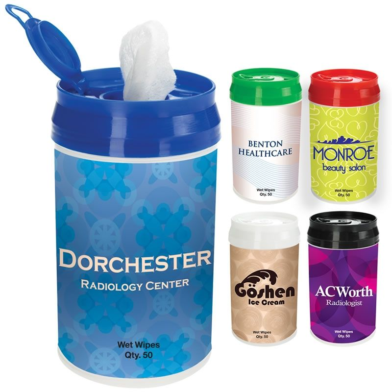Promotional Pop Top Wet Wipe Container Customized Pop Top Wet