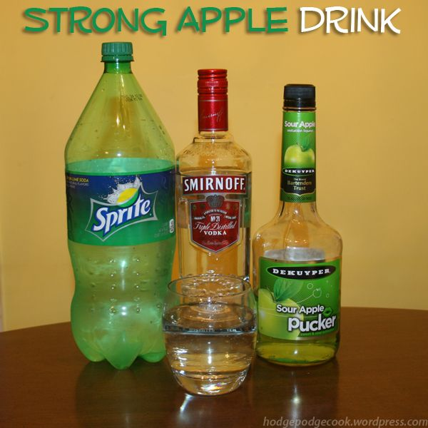 Strong Alcoholic Drinks, Apple Pucker