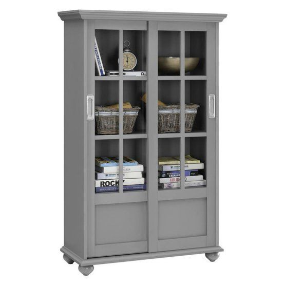 Altra Furniture Aaron Lane Barrister Bookcase With Sliding Glass