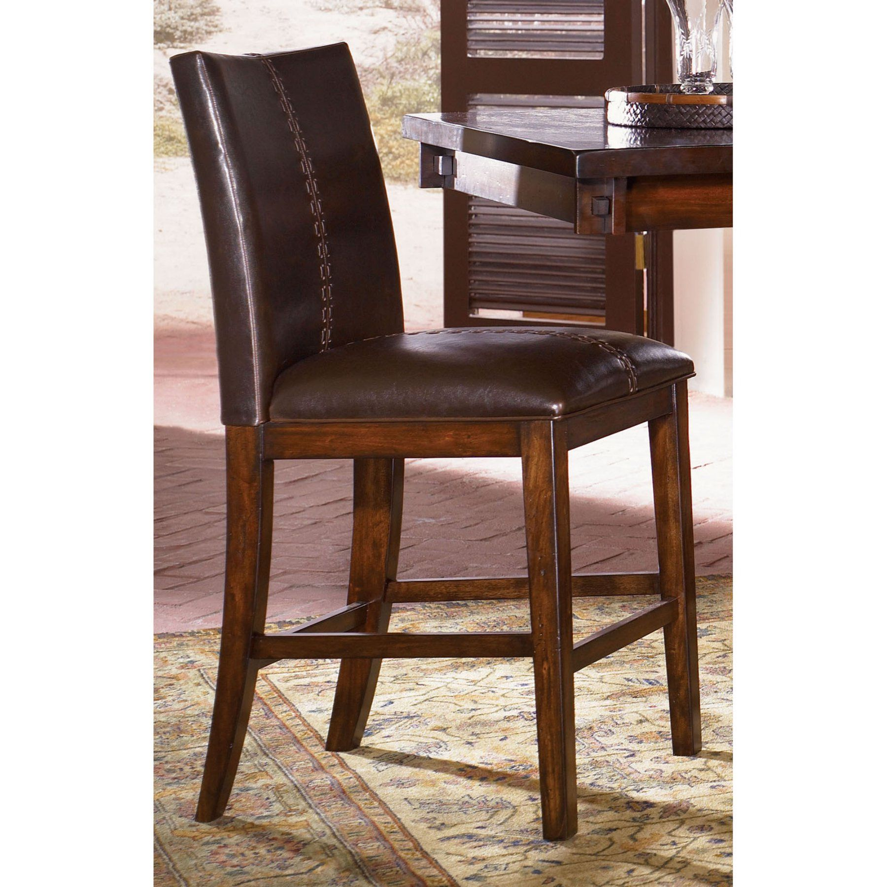 A-America Mesa Rustica Parson Counter Chairs - Set of 2 - AAME216