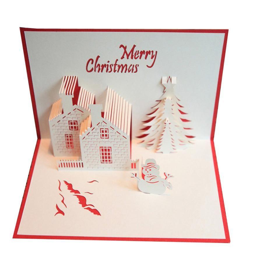 2017 New B Merry Christmas 3d Cards Wedding Lover Happy Birthday