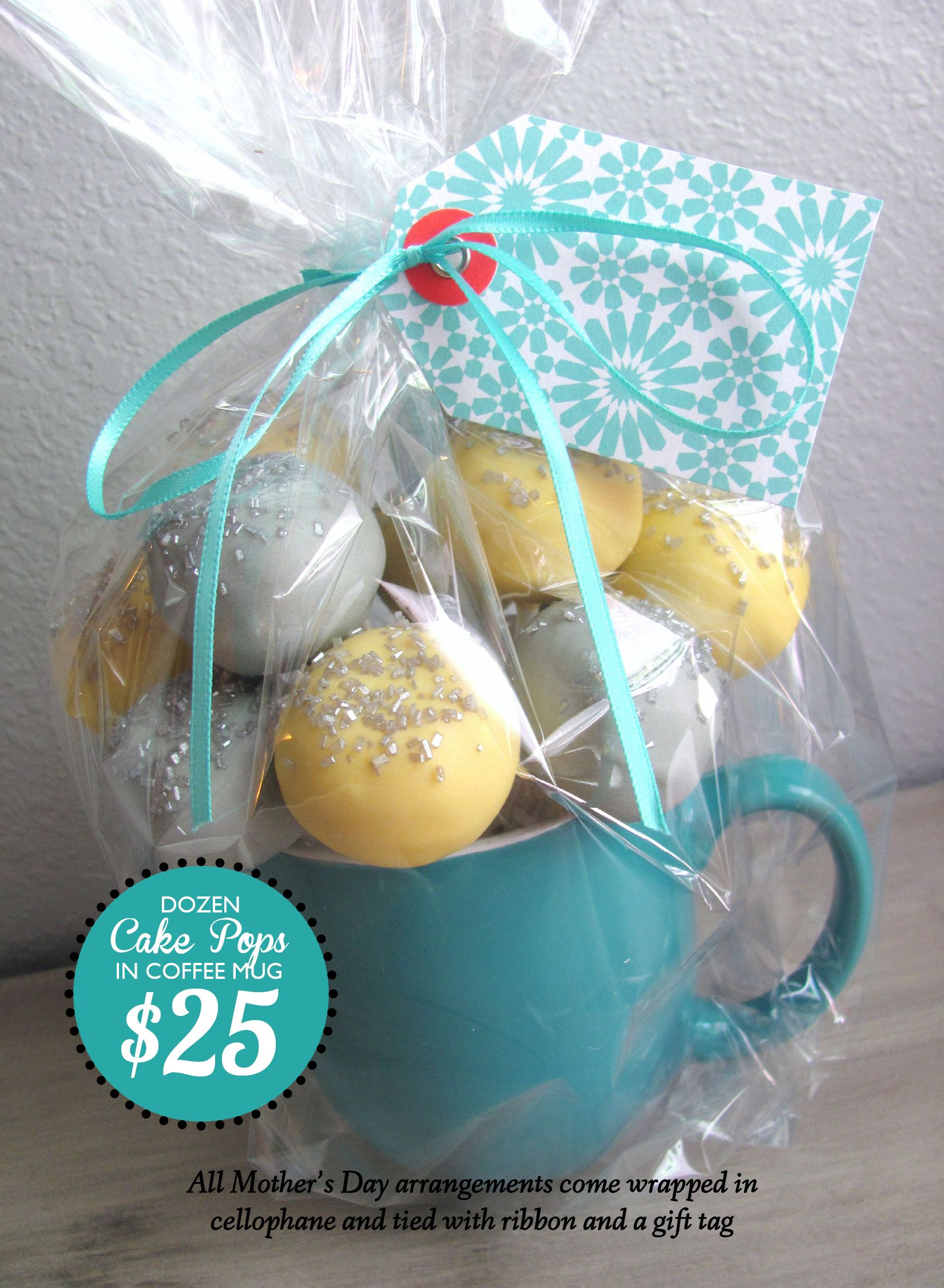 Edible Mothers Day Gifts Nashville Cake pops... Substitute regular ...