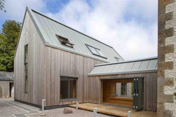toit bac acier extension pinterest maison maison bois et bardage. Black Bedroom Furniture Sets. Home Design Ideas