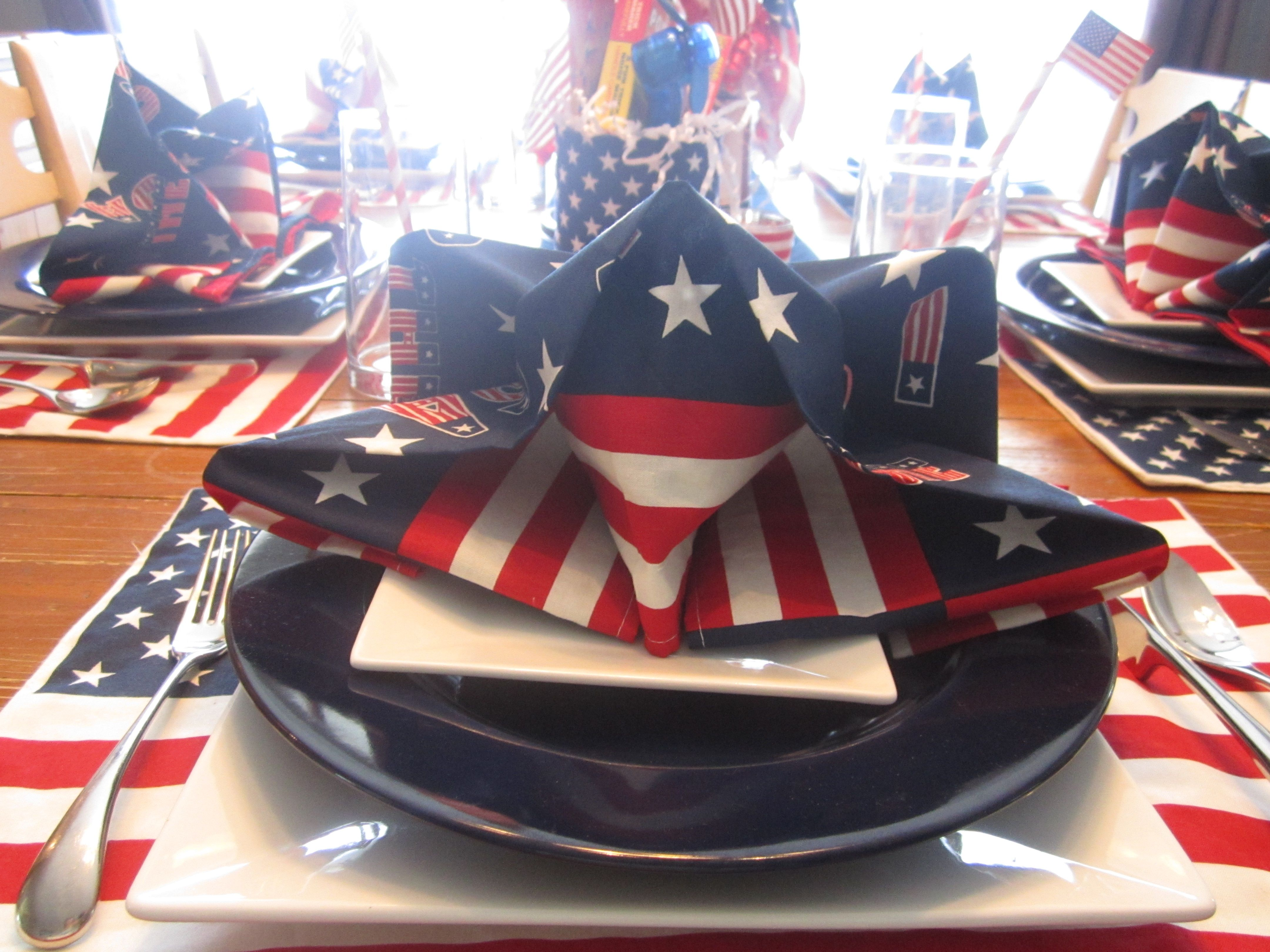 Star Napkin Fold July 4th