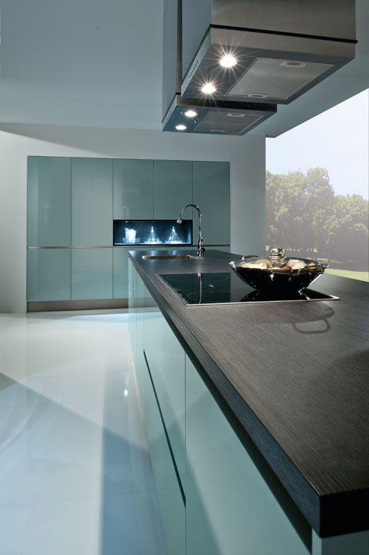 3020 Ozeanblau - Häcker Küchen Küchen Pinterest Häcker - küche spritzschutz selber machen