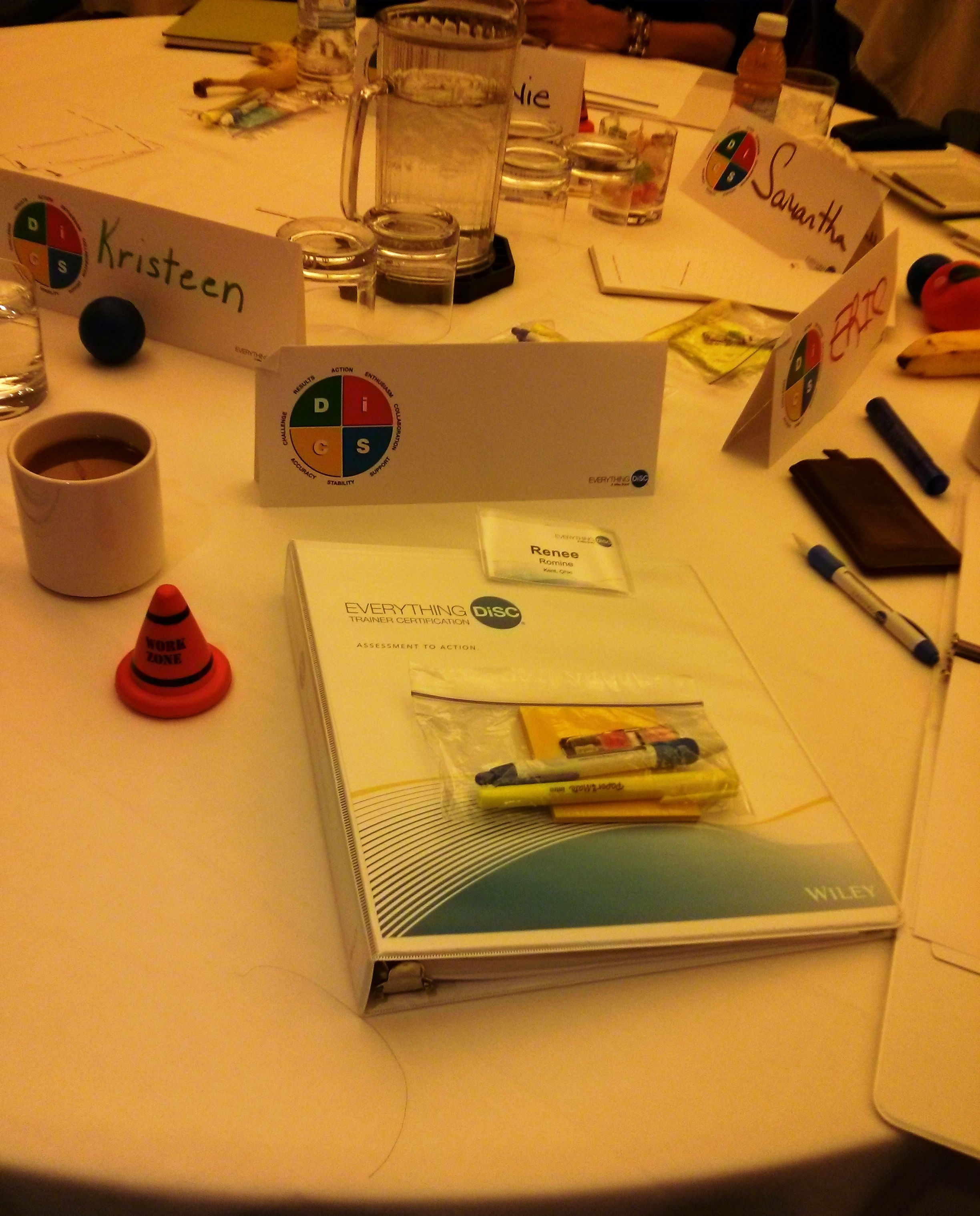 Day 1 At Everything Disc Certification Just A Notebook Name Tent
