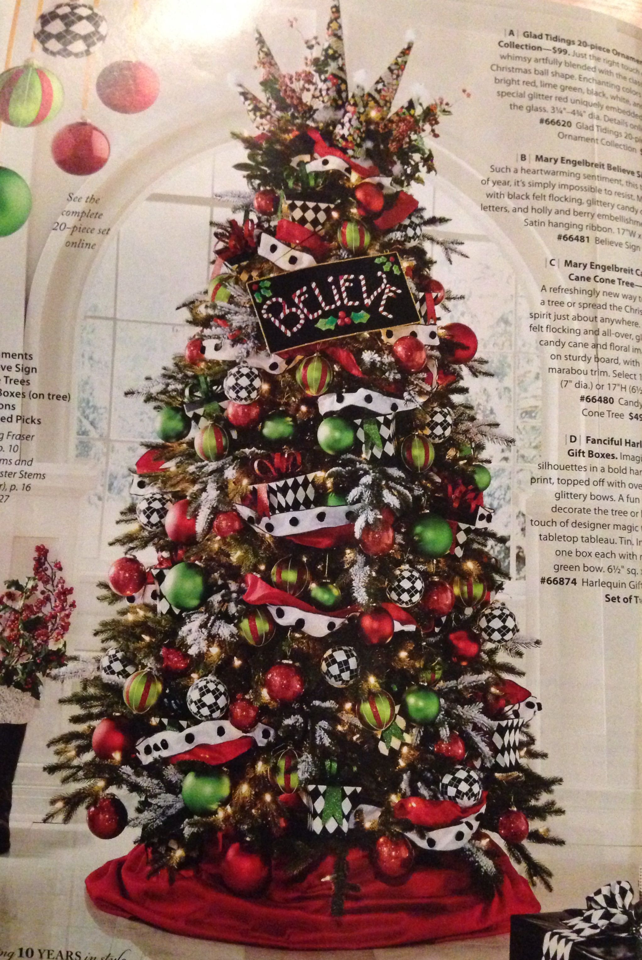 Christmas Tree Inspiration From A Magazine Nutcracker Christmas Tree Christmas Tree Inspiration Black Christmas Trees