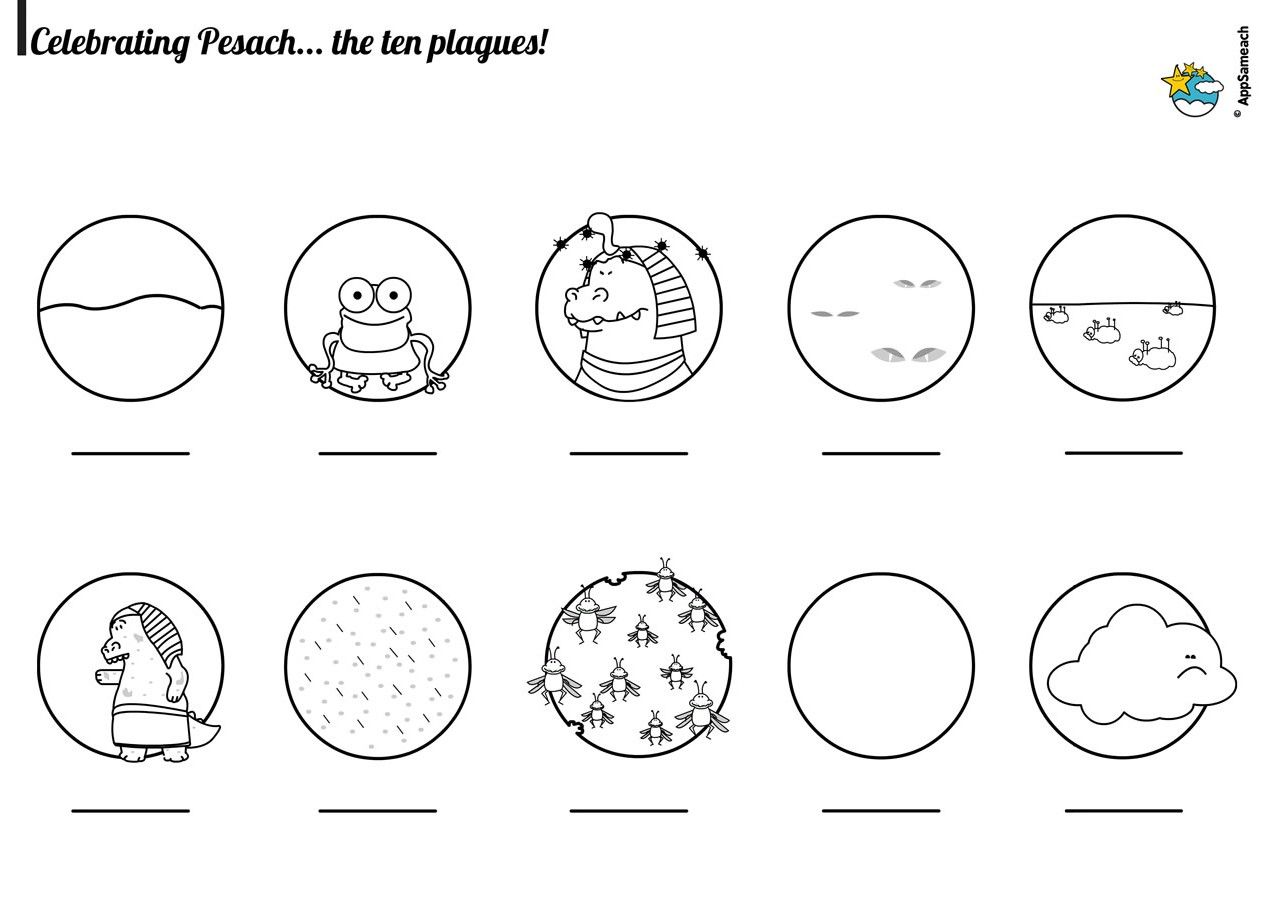 The 10 Plagues Coloring Page Coloring Pages Sunday School Coloring Pages Passover Plagues