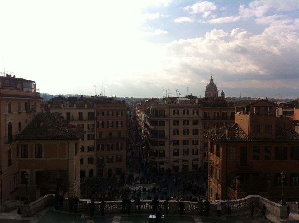 Amazing view of Rome from the top of the Spanish Steps