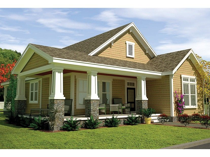 Craftsman Style House Plan 3 Beds 2 Baths 1487 Sq Ft Plan 991 29 Craftsman Style House Plans Craftsman House Plans Craftsman House