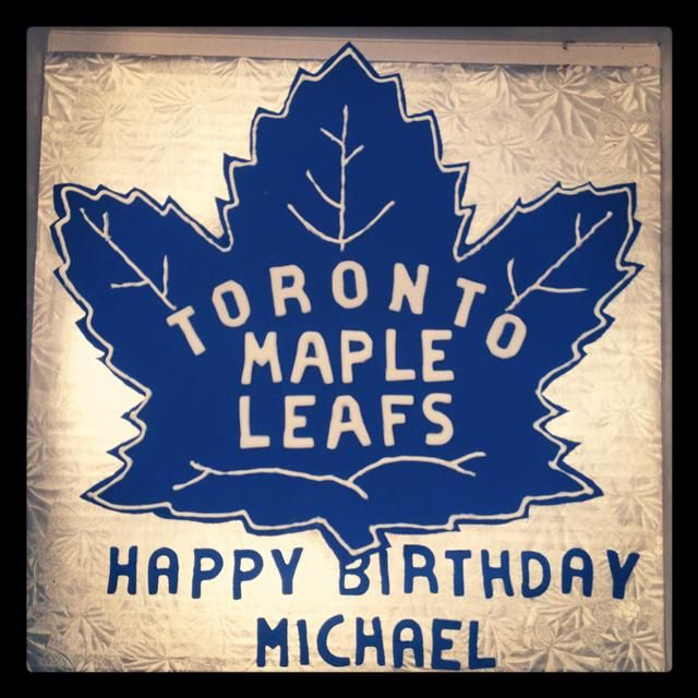 Toronto Maple Leafs Birthday Cake Edible Bliss Cakes