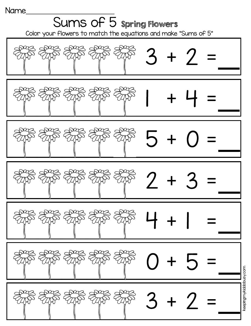 May In Kindergarten Freebies Keeping My Kiddo Busy Addition Kindergarten Kindergarten Math Kindergarten Math Worksheets Free [ 1264 x 974 Pixel ]
