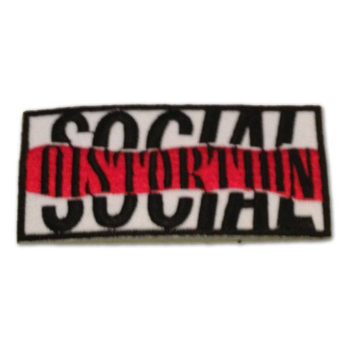 Social Distortion Embroidered Patch, Iron On Applique, Punk rock band