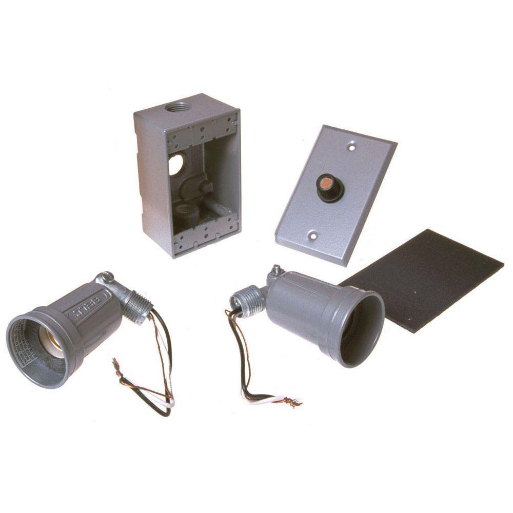 Bell Gray Weatherproof Photocell Par38 Lampholder Kit 5883
