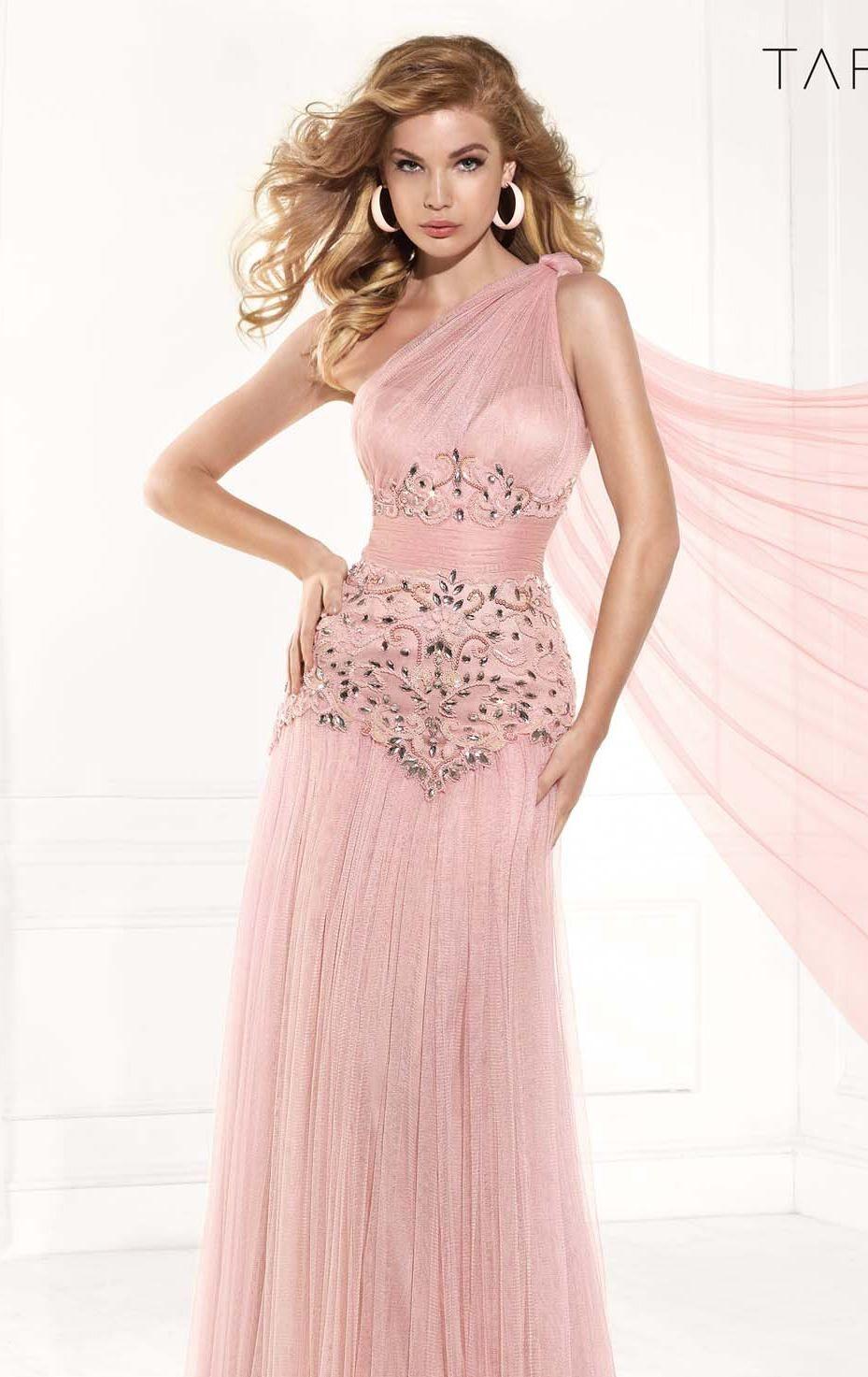 Tarik Ediz 92384 by Tarik Ediz | pale pink & bling wedding | Pinterest
