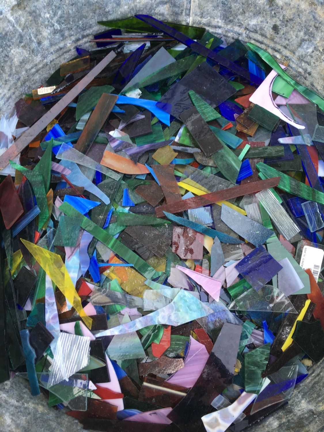 Stained Glass Scraps Pieces Mosaic Craft Supply 2 1 4 Many Colors And Sizes Mosaic Crafts Mosaic Mosaic Art