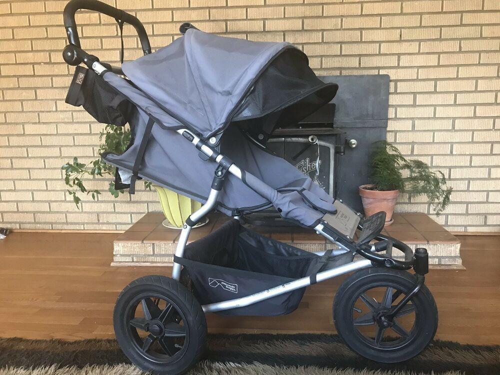 Mountain Buggy Urban Jungle Stroller Carry Cot Pram Bassinet All