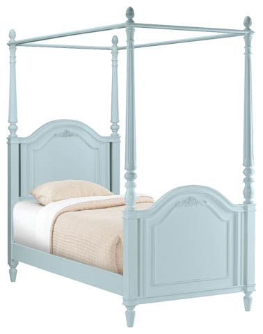 poster bed shabby chic room decor