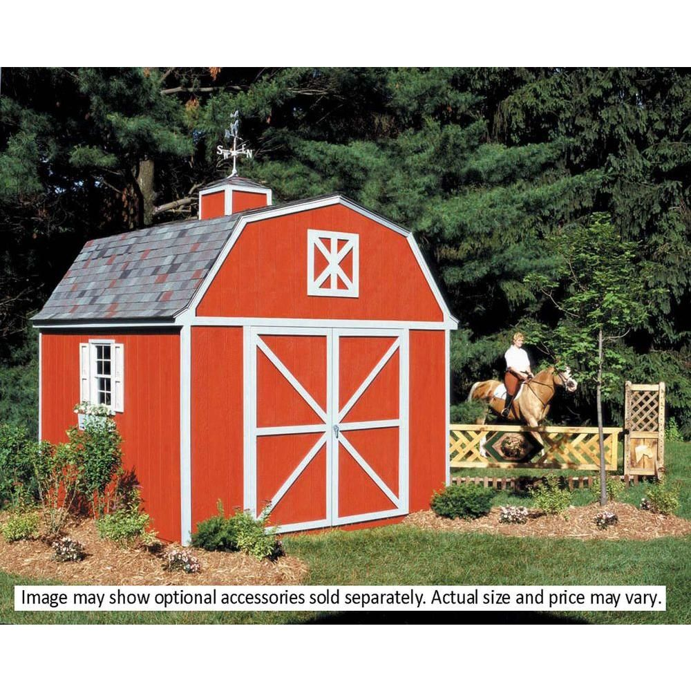 Handy Home Products Berkley 10 Ft X 12 Ft Wood Storage Building Kit 18512 0 Wood Storage Sheds Storage Shed Kits Building A Shed