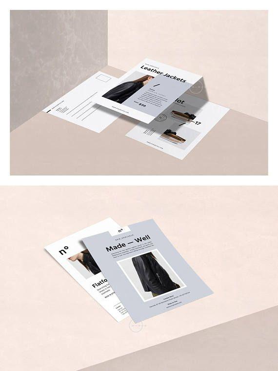 4 promo card templates postcard template set postcard design