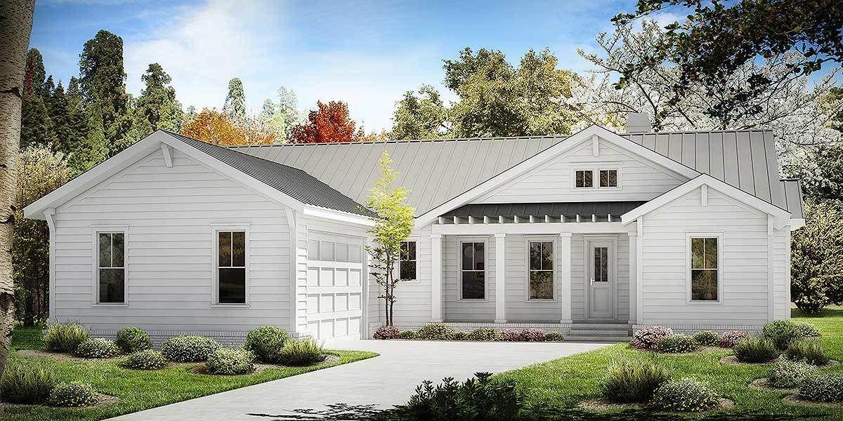 One Story Farmhouse Plan 25630GE