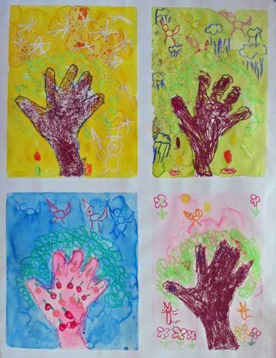 L'arbre main et les 4 saisons.