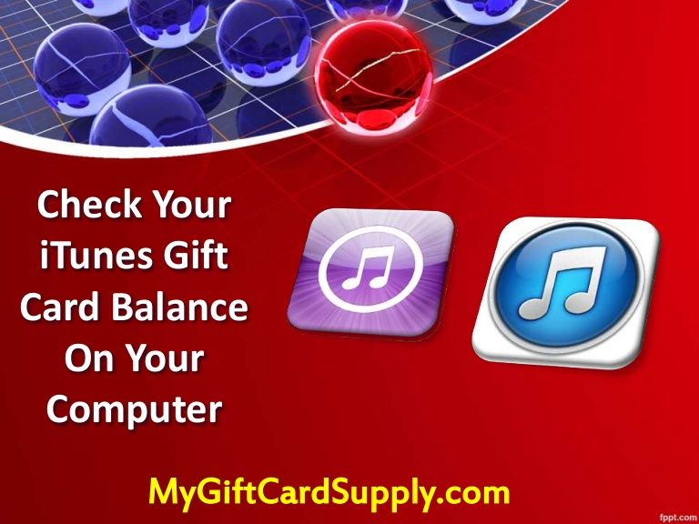 Check your itunes gift card balance on your desktop