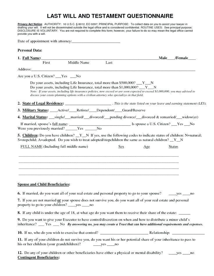 28 Free Will Download forms in 2020 Last will and