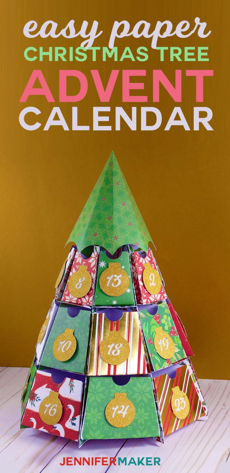 Christmas Tree Advent Calendar: 25 Days of Maker Projects! - Jennifer Maker