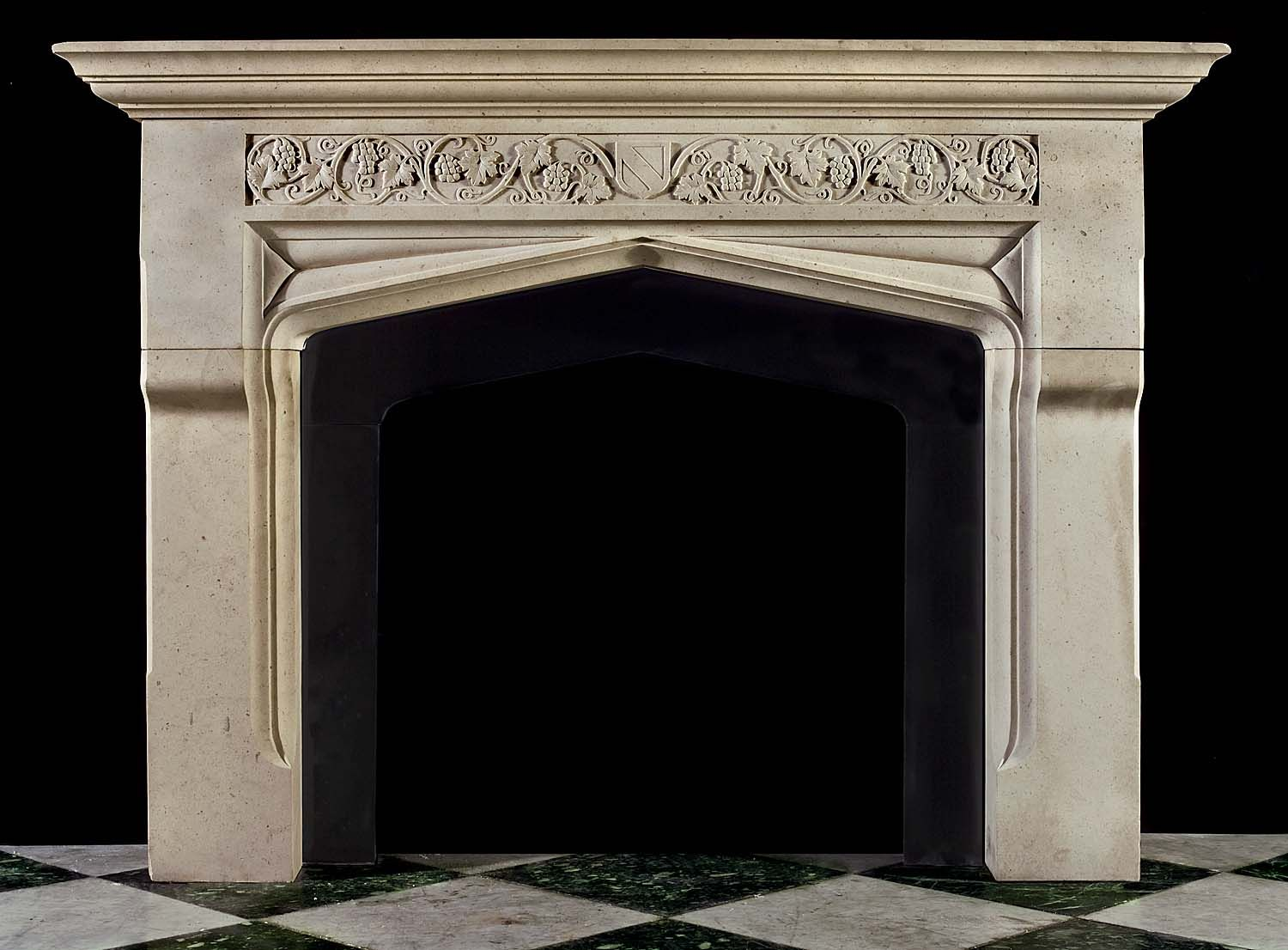 tudor style fireplace antique limestone fireplace mantel