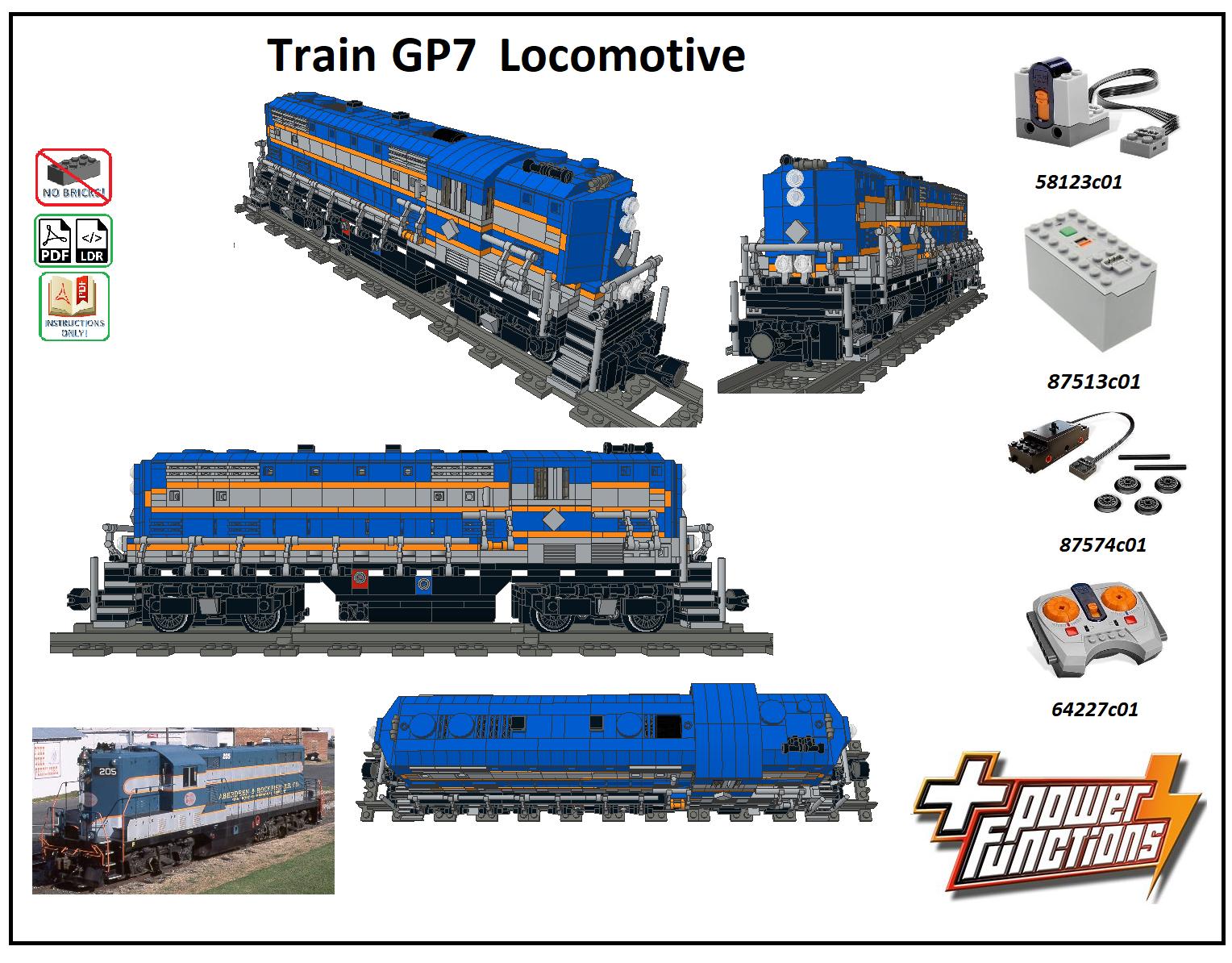Details about LEGO MOC Trains ES44AC Diesel Locomotive