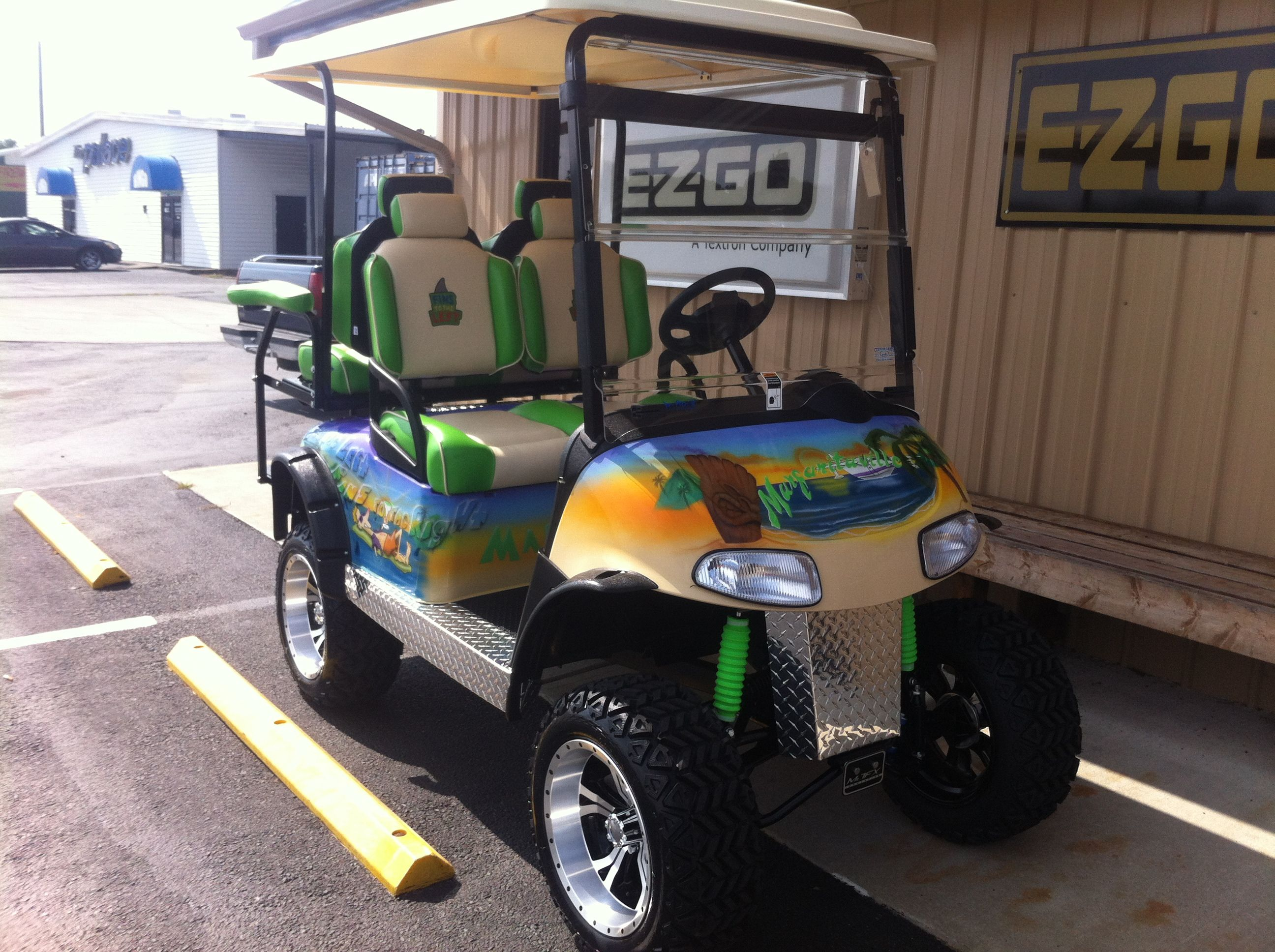 "Club Car Ds GAS powered ""Margaritaville"" Golf Cart ...  |Margaritaville Golf Cart Craigslist"