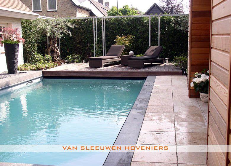 Tuin met zwembad ontwerp aanleg door van sleeuwen hoveniers